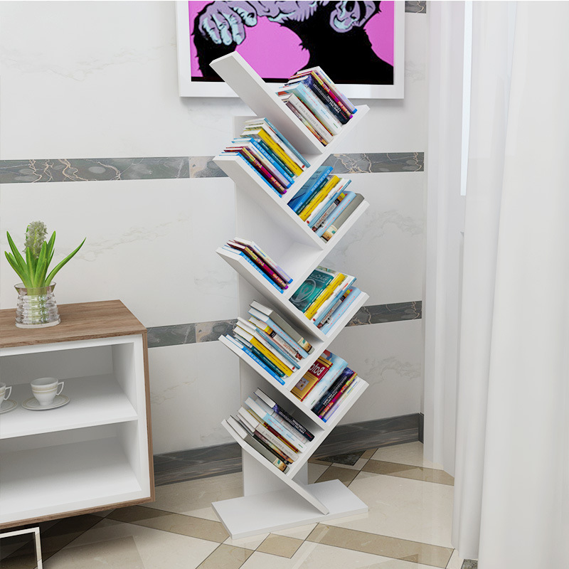 Tree Shelves Bookshelf Office Newspaper Shelf Decorative Frame Multi ...