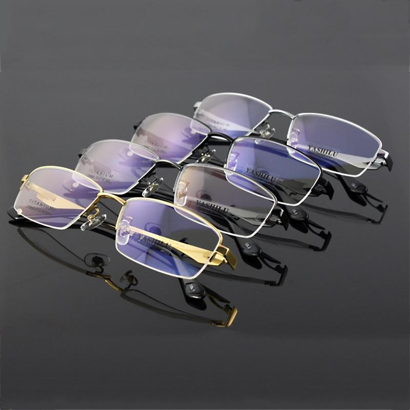 a9316f01d4 Pure Titanium Men S Eyeglasses Myopia Eyewear Prescription Glasses YASHILU  8843 (53 18 140)-in Eyewear Frames from Apparel Accessories on  Aliexpress.com ...
