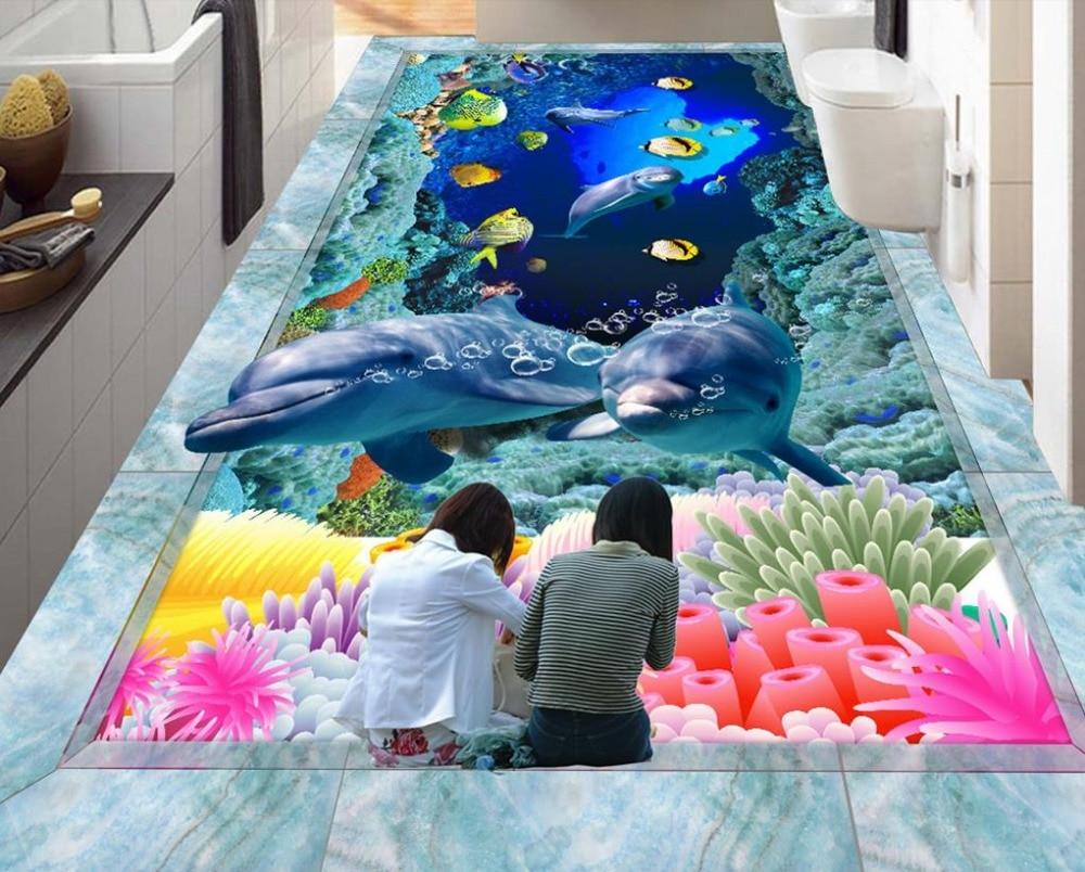 online billig bekommen 3d boden tapete shark -aliexpress, Badezimmer ideen