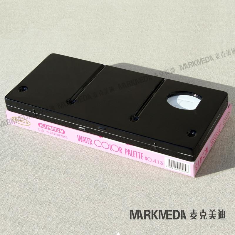 Купить с кэшбэком Free shipping Import a Heuneil metal palette Han Hing / palette gouache watercolor / propylene / 413/13 lattice