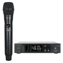 Custo-benefício UHF Handheld Sistema de Microfone Sem Fio Vocal Microfone IR função de Sincronização para Cantar Ao Vivo Show de 100 Canais Selecionáveis