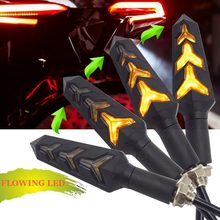 Universal flowing flicker led motorcycle turn signal Lights Blinkers clignotant moto FOR chopper honda goldwing gl1800 softail