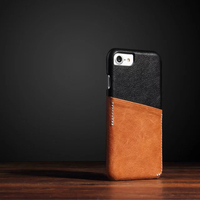 Genuine Leather Insert Card back Case For Apple iPhone 7 6S Plus Cover Fashion Two Color Protector Case For iPhone 7 6 Plus Caps