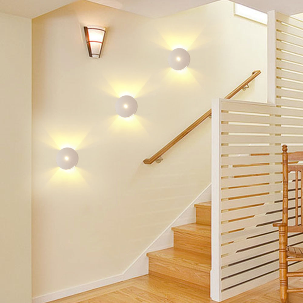 Lighting Basement Washroom Stairs: Modern Sconce Stair Wall Lamp Light 1W 3W Aluminum Up And