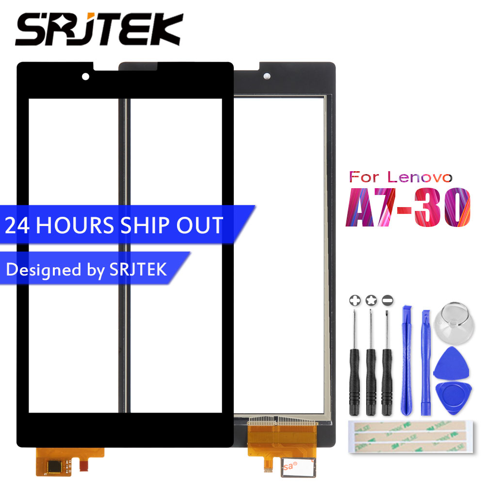 Srjtek For For Lenovo Tab 2 A7-30 A7-30DC A7-30HC A7-30TC Touch Screen Digitizer Sensors Glass Panel Tablet PC Replacement Parts original new genuine 11 6 inch tablet touch screen glass lens digitizer panel for hp x360 310 g1 replacement repairing parts