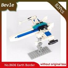 Bevle Store LEPIN 8606 82Pcs Star Wars Series Faint blue war edge Building Blocks set Bricks Children For Toys Gudi Gift