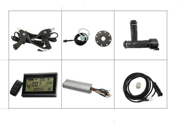 36В 48В 1000Вт 26А 12MOSFET контроллер Бесщеточный постоянного тока синусоида волна Электровелосипедов установить Обратный Регенеративную функцию LCD3 тормозные рычаги ПА части