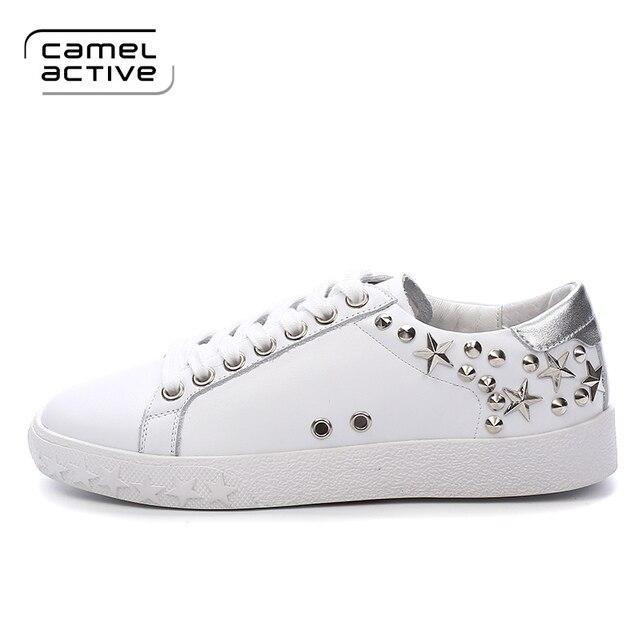 US $44.99 25% OFF Camel Active 2017 Neue Leder Frauen Schuh Beiläufige Lederne Schuhe Für Frauen Flache Schuhe Damen Schnürung Müßiggänger Zapatos