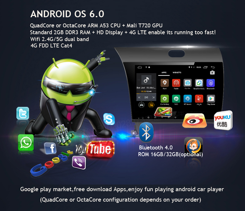 ANDROID 6.0 CAR DVD 2DIN CAR RADIO GPS hyundai creta ix25 (7)