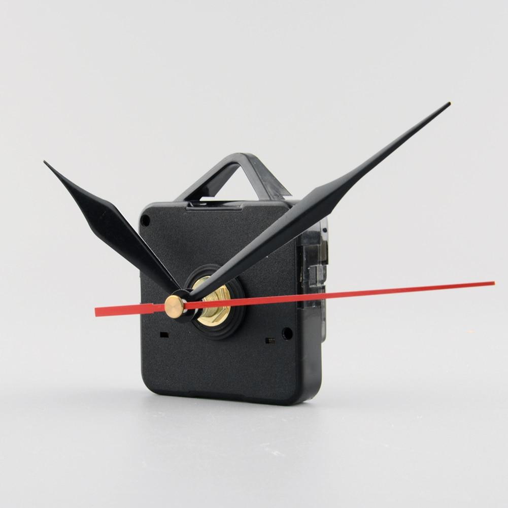 1 Set Stille Quartz Klok Movement Mechanism Met Haak Zwart Rood Handen Repair Kit Tool Set Drop Shipping