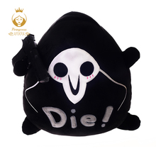 1pc 40*35cm Overwatches Reaper Plush Pillow toys Around Rye Pioneer Pillow Figure logo Plush Seat cushion children boy gifts