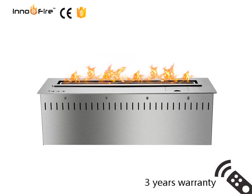 24 Inch Intelligent Silver Or Black Automatic Remote Control Smart Indoor Electric Fireplace