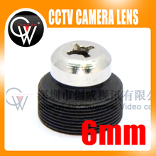5pcs/lot 6mm lens Screw Board Lens 53 Degrees For CCTV Security Camera Free Shipping