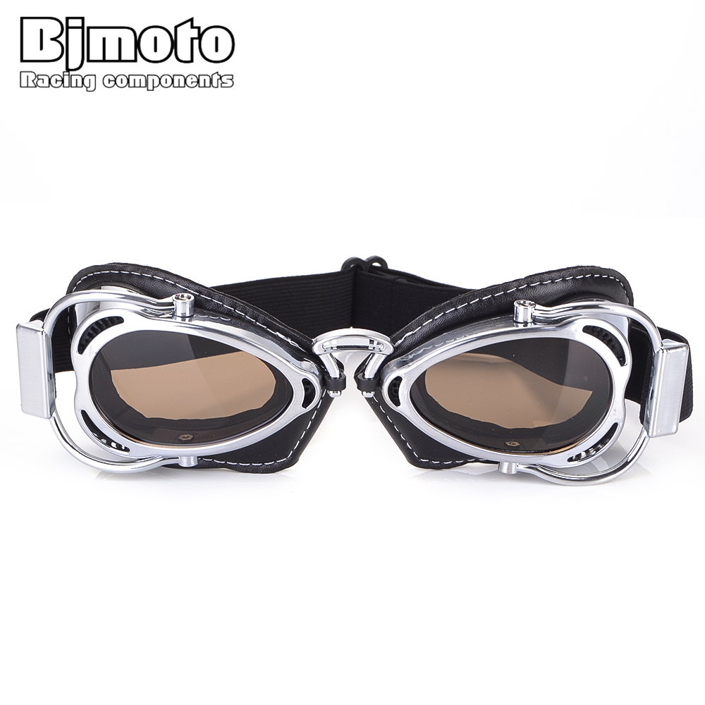 2019 Cool Super Bike Ski Goggles Glasses Retro Motorcycle Goggles Vintage Protective Off-Road Riding Style Steampunk Glasses