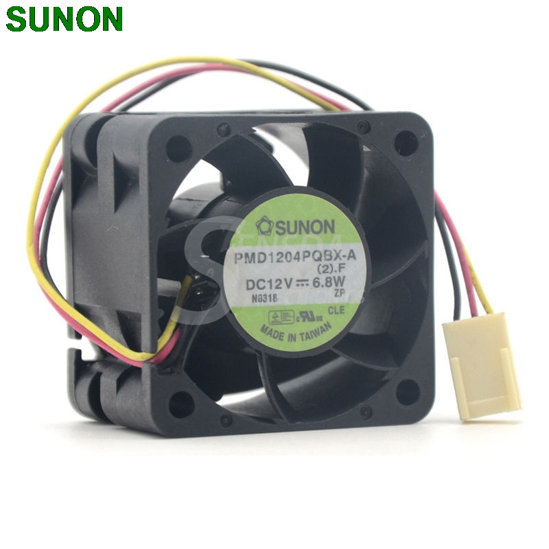 Sunon PMD1204PQBX-A 4CM winds of fan 4028 12V 6.8W 40*40*28mm axial cooling fan sunon original kde2404pfv3 double ball bearing cooling axial fan dc 24v 0 9w 4010 40 40 10mm 100 pcs lot