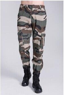 Военные печатные тренировочные брюки зимние мужские брюки-карго Теплые повседневные мешковатые штаны - Цвет: Армейский зеленый