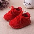 Nuevo 2017 primavera infantil del bebé shoes con cordones ocasionales de los bebés deportes shoes
