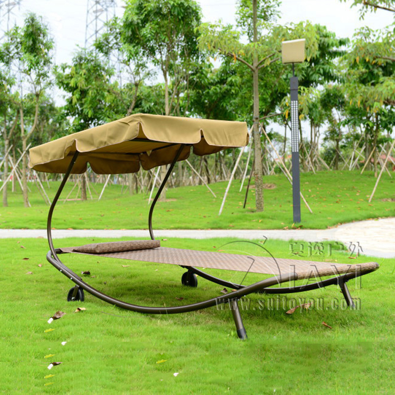 outdoor swing chair sleeping bed hammock leisure hanging daybed with canopy for adults in patio. Black Bedroom Furniture Sets. Home Design Ideas