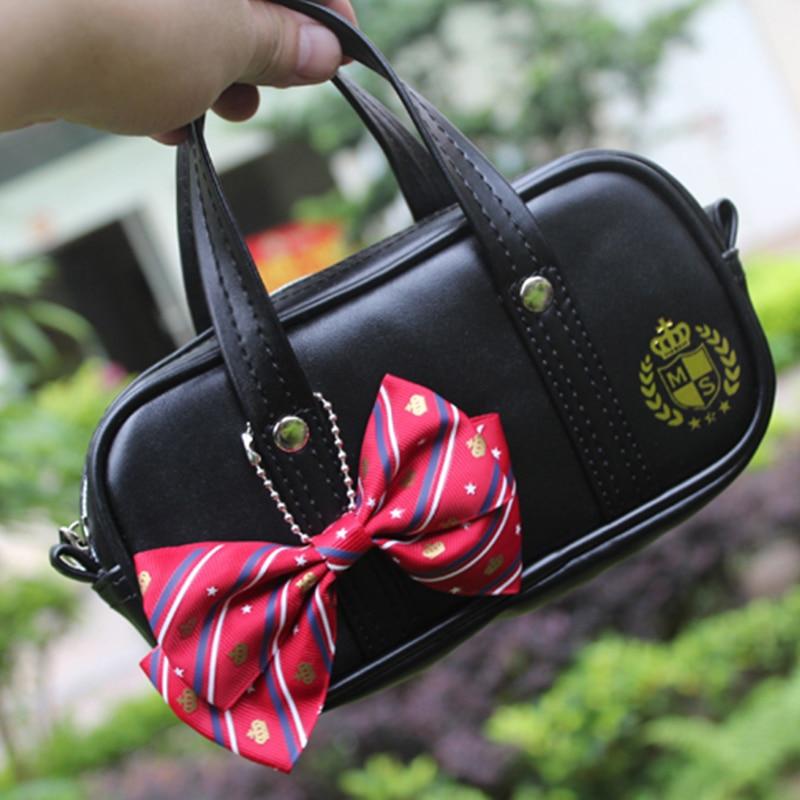 Princess sweet lolita bag Japanese uniform pocket bag zero wallet Lolita soft girl bag bow tie zipper coin purse women WW025 casual twill stripe pattern tie pocket square bow tie