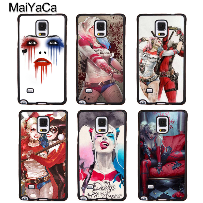 MaiYaCa Harley Quinn Comics Phone Cases For Samsung Galaxy S5 S6 S7 edge Plus S8 S9 plus Note 4 5 8 Full Cover Shell