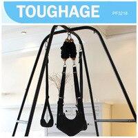Toughage Подлинная стенд рамка + качелях Роскошные любовь висит стул Связывание комплект секс игры для взрослых наборы мебели для взрослых