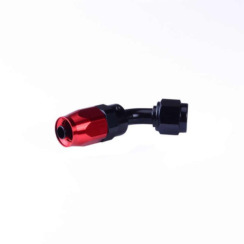 สายอลูมิเนียมอะลูมิเนียมหมุนได้4 AN-4 45องศาสายน้ำมันเชื้อเพลิงข้อต่อสีดำ & สีแดงชุบจัดส่งฟรี