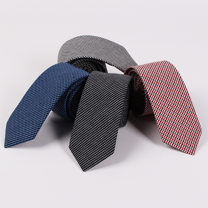 RBOCOTT Cotton Ties 6.5cm Skinny Fashion Blue Necktie Men's Casual Slim Neck Tie Red Wedding Business Party Suit Accessories