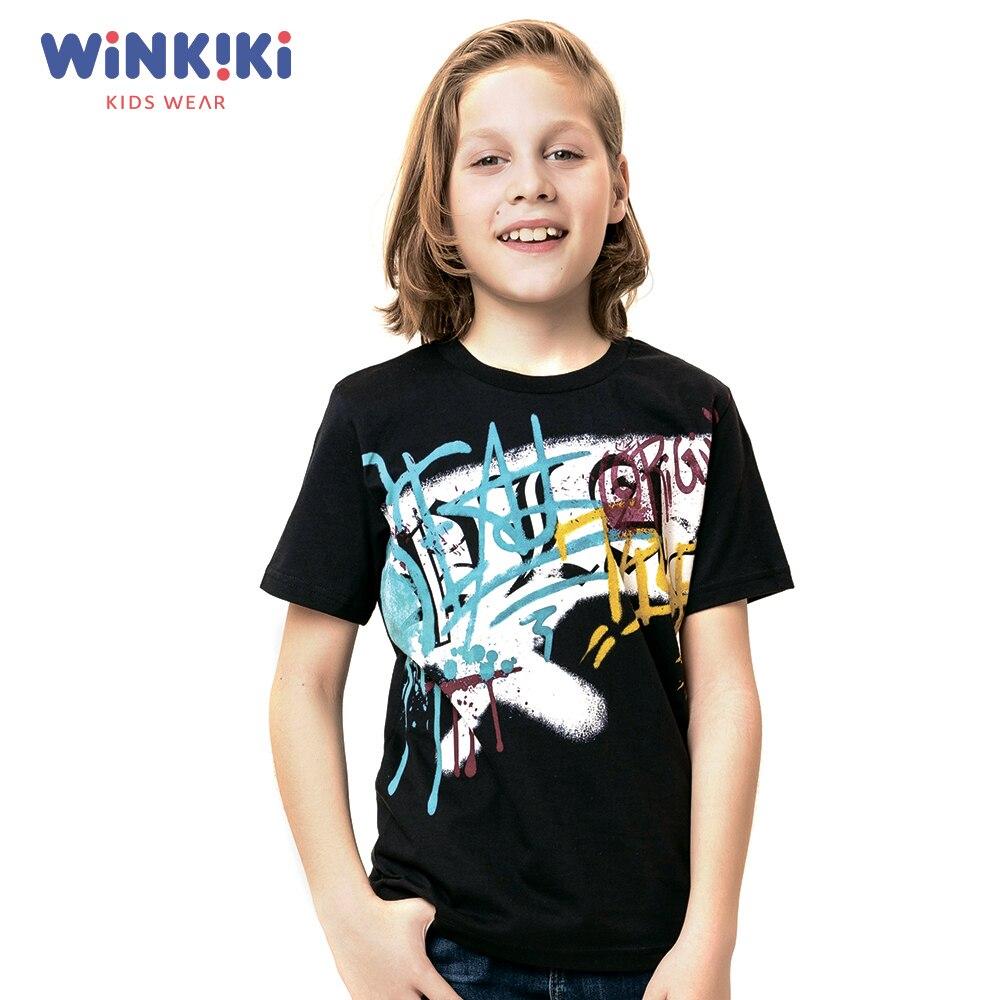 T-Shirts Winkiki WTB91423 T-shirt kids children clothing Cotton White Boys Casual цены