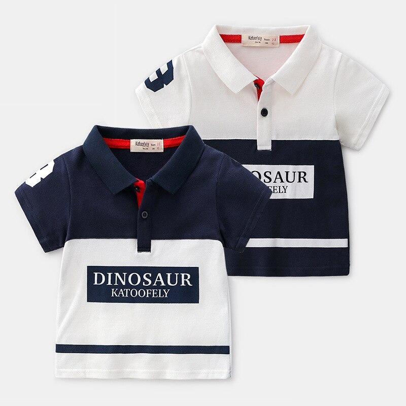 7dd3e0d71 Verano niños Polo camisa manga corta niños algodón Polo camisas Patchwork  niños Tops bebé ...
