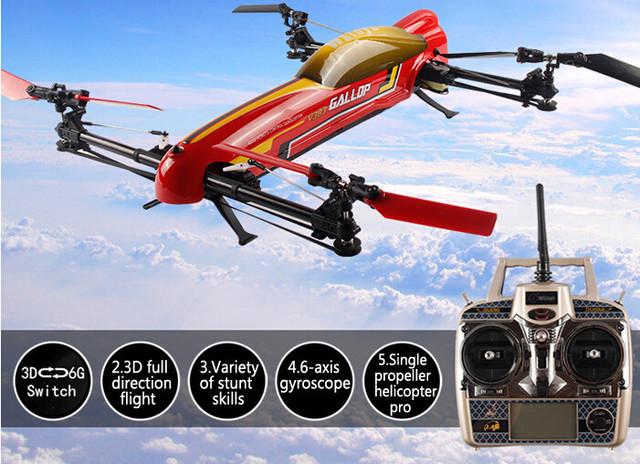 F15637 original WLtoys V383 500 Eléctrico 3D 2.4G 6CH RC Quadcopter Drone Heliicopter Nueva llegada de Juguete de Regalo