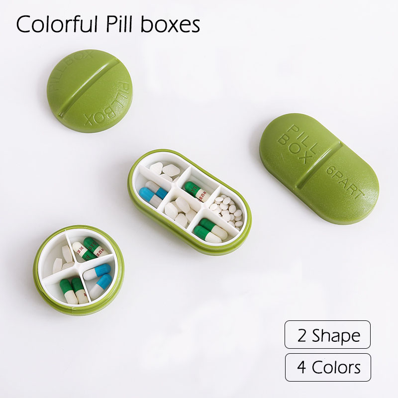 Mini Lovely Creative Japanese Portable  Pill Box Packaging Sealed Plastic Large Capacity