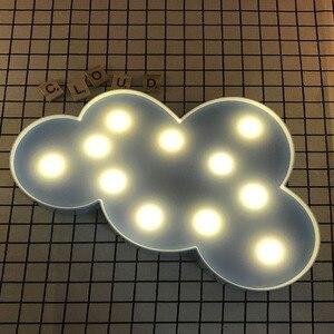 Image 3 - Promotie 3D Marquee Cloud Star Moon Led Nachtverlichting Baby Nursery Lampen Kinderen Slaapkamer Decor Kids Geschenken