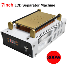 300W LCD Separator Build-In Vaccum Pump LCD Screen Separating Machine For IPhone Touch Screen Glass Max 7inch tbk 958 build in air pump automatic vacuum separator lcd separating machine for mobile refurbishing