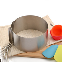 Retractable Circle Stainless Steel Cookie Fondant Cake Mold Pastry Tool Mousse Cake Ring Mold