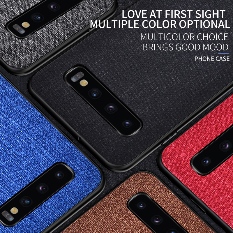 Luxury Slim Soft Fabric Cloth Back Skin Cover Coque For Samsung Galaxy S10 1