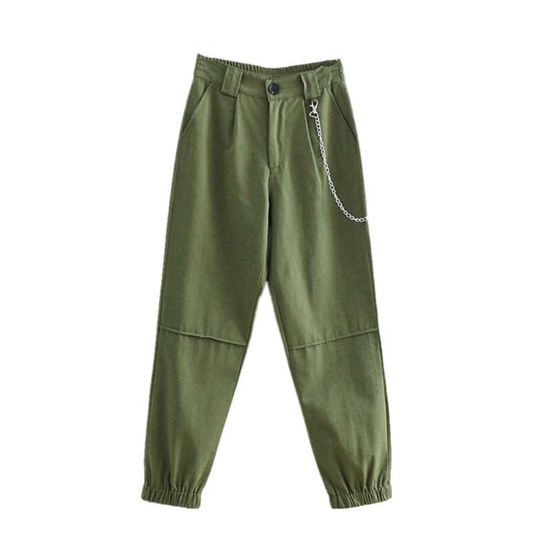 Women Cotton Cargo   Pants   Streetwear Casual Joggers Loose Female Trousers Ladies   Pants     Capri   Harem   Pant