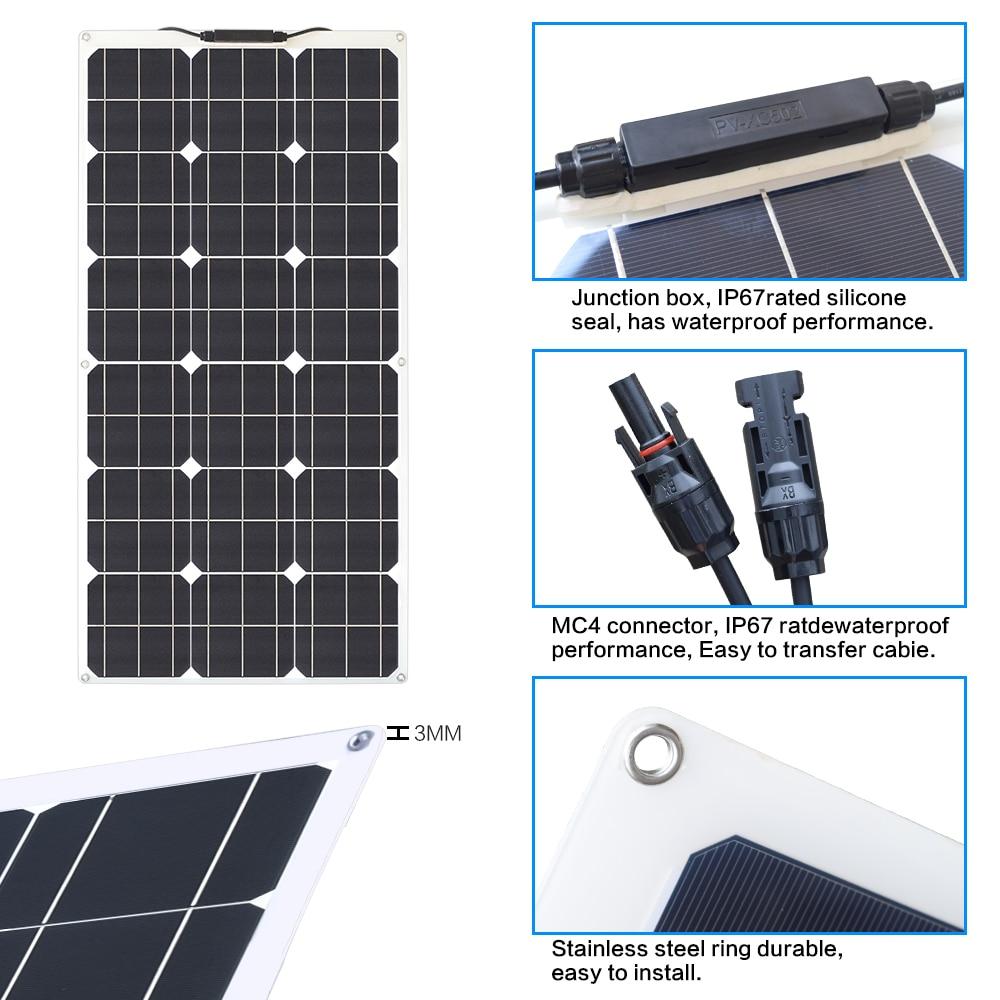 80W 18V flexible solar panels 3