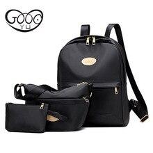 Ткань Оксфорд из трех частей рюкзаки женская мода сумки на плечо водонепроницаемый нейлон Многофункциональный рюкзаки для девочек-подростков сумка