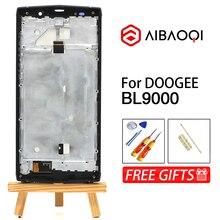 Aibaoqi novo original 5.99 polegada tela de toque + 2160x1080 display lcd + montagem do quadro substituição para doogee bl9000 android 8.1 telefone