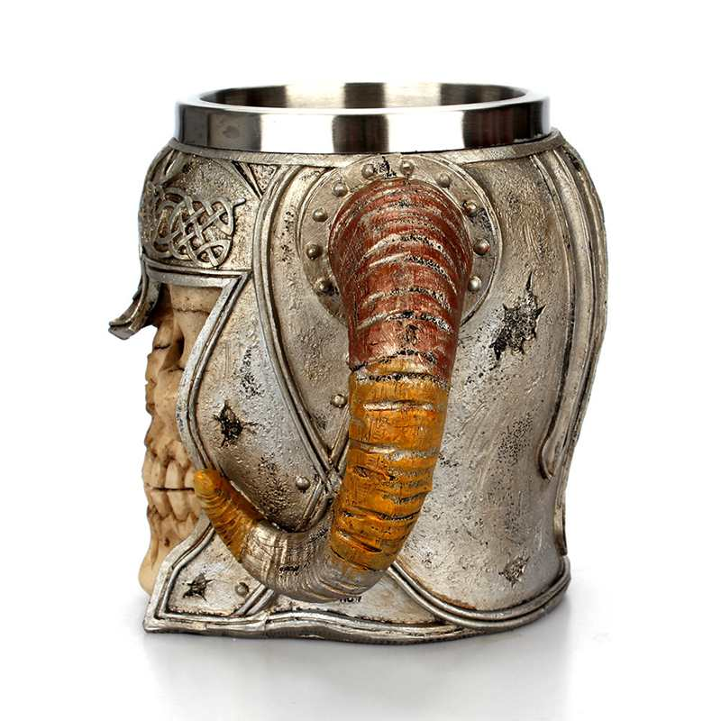 Viking Warrior Horned Skull Mug 4