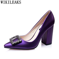 purple shoes rhinestone heels office shoes women sexy high heels wedding shoes pumps women shoes brand heels chaussures femme