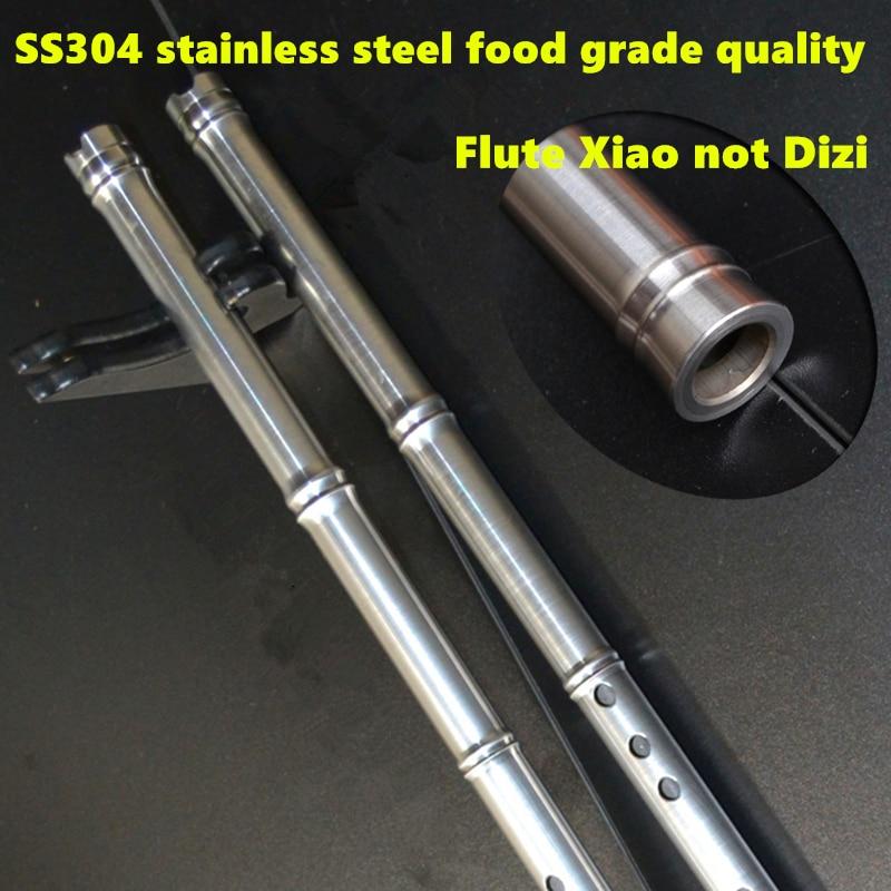 SS304 Metāla flauta Xiao nav Dizi 80cm G / F Key Xiao flauta šķērsvirziena flauta Profesionāla metāla Flautas Xiao pašaizsardzības ierocis