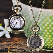Relogio Feminino Watches Dropshipping Gift Fashion Women Hot Vintage Retro Bronze Quartz Pocket Pendant Chain Necklace August7(China)