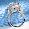 Luxury 5 Carat ct F Color Engagement Wedding Lab Grown Moissanite Diamond Ring With Moissanite Accents Solid 14K 585 White Gold