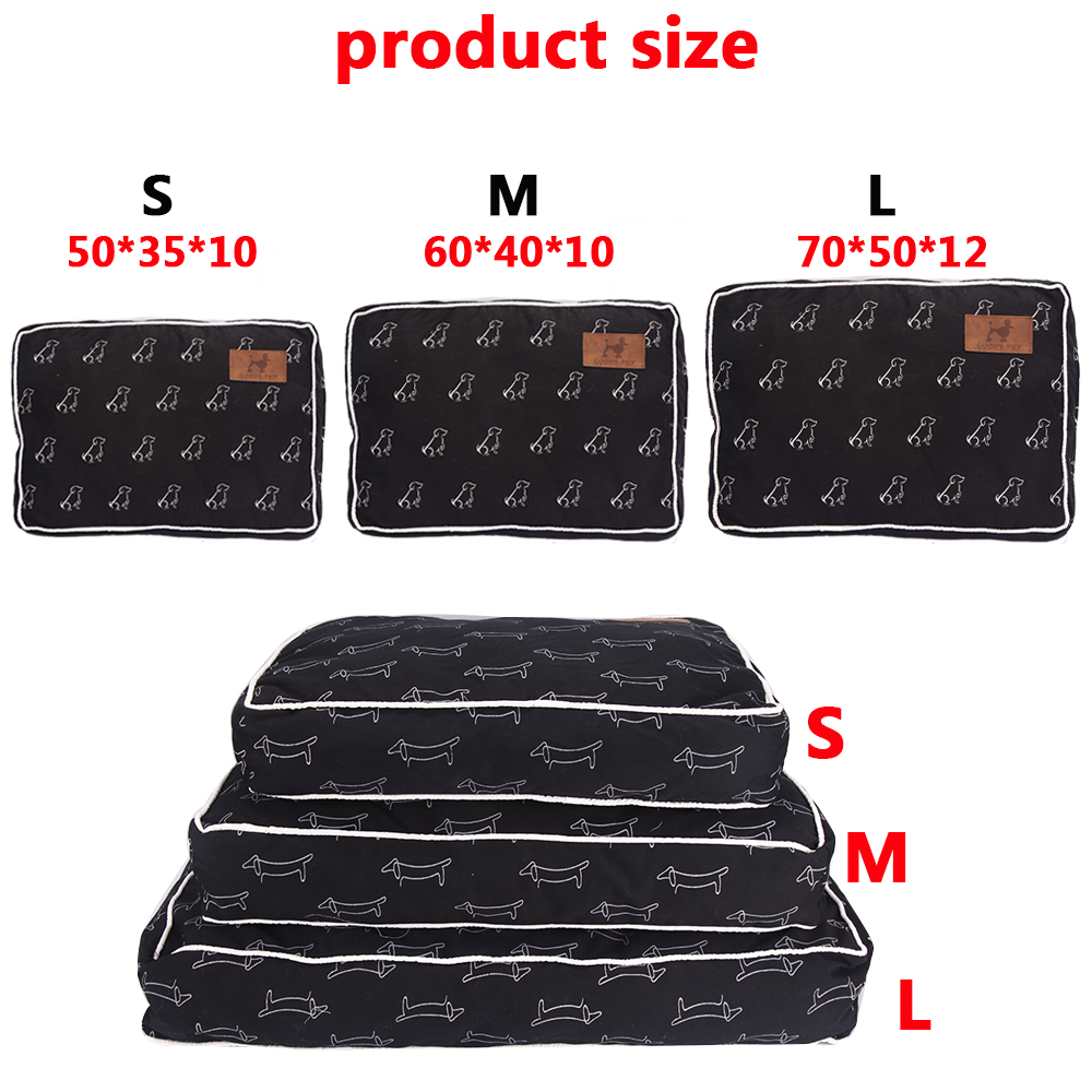 [COOBY] Pet Products Dog Beds for Small Large Dogs Puppy Cat Bed Mat for Dog Pets Sofa for Animals Hand Wash Dog Supplies PY0194