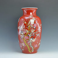 Decorative Red Chinese Porcelain Vases