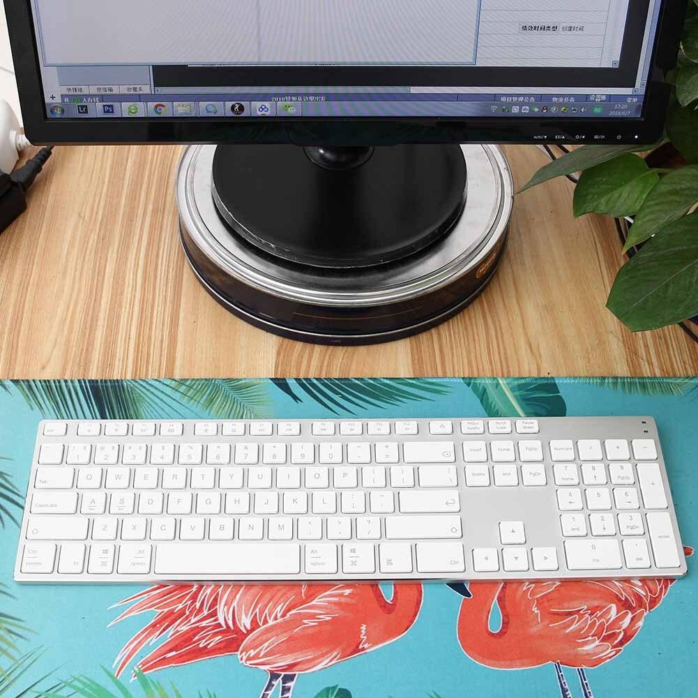 Nouvellement en alliage d'aluminium sans fil Bluetooth 3.0 clavier pour tablette ordinateur portable Support de téléphone iOS Windows système
