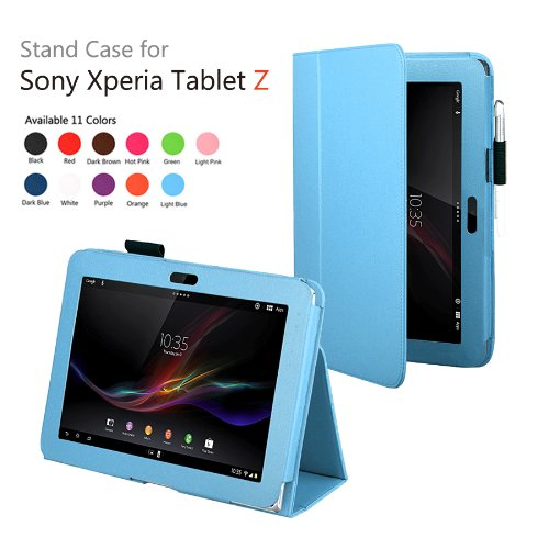 Pu leather stand holder tablet case cover for Sony Xperia Tablet Z Z1 10.1 Magnetic Folio Fundas Case for Sony Xperia z 10.1