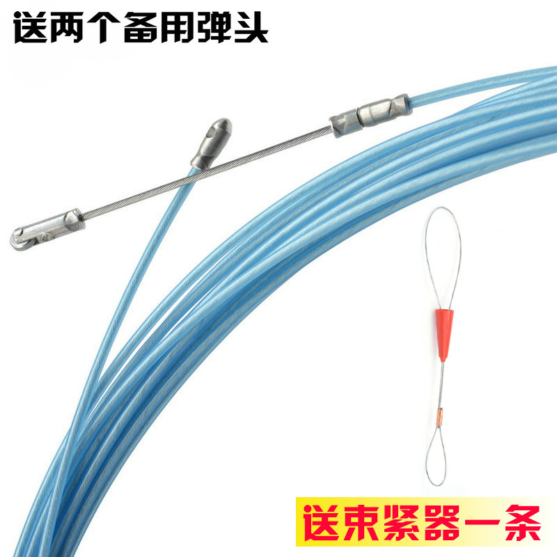 Plastic bag with roller head electrician threading wire wire cable ...
