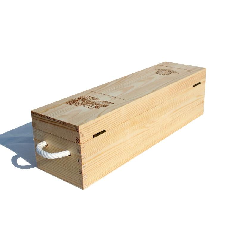puestos de venta de vino de madera palos embalaje caja de regalo vino de madera